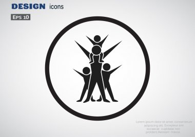 Happy family web icon
