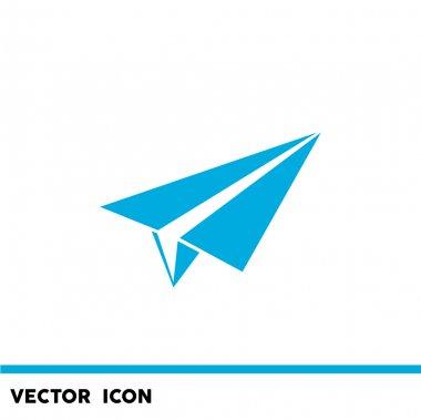 Paper plane simpe web icon