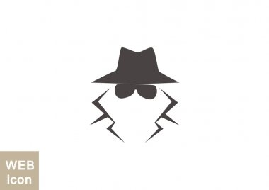 Anonymous spy agent icon
