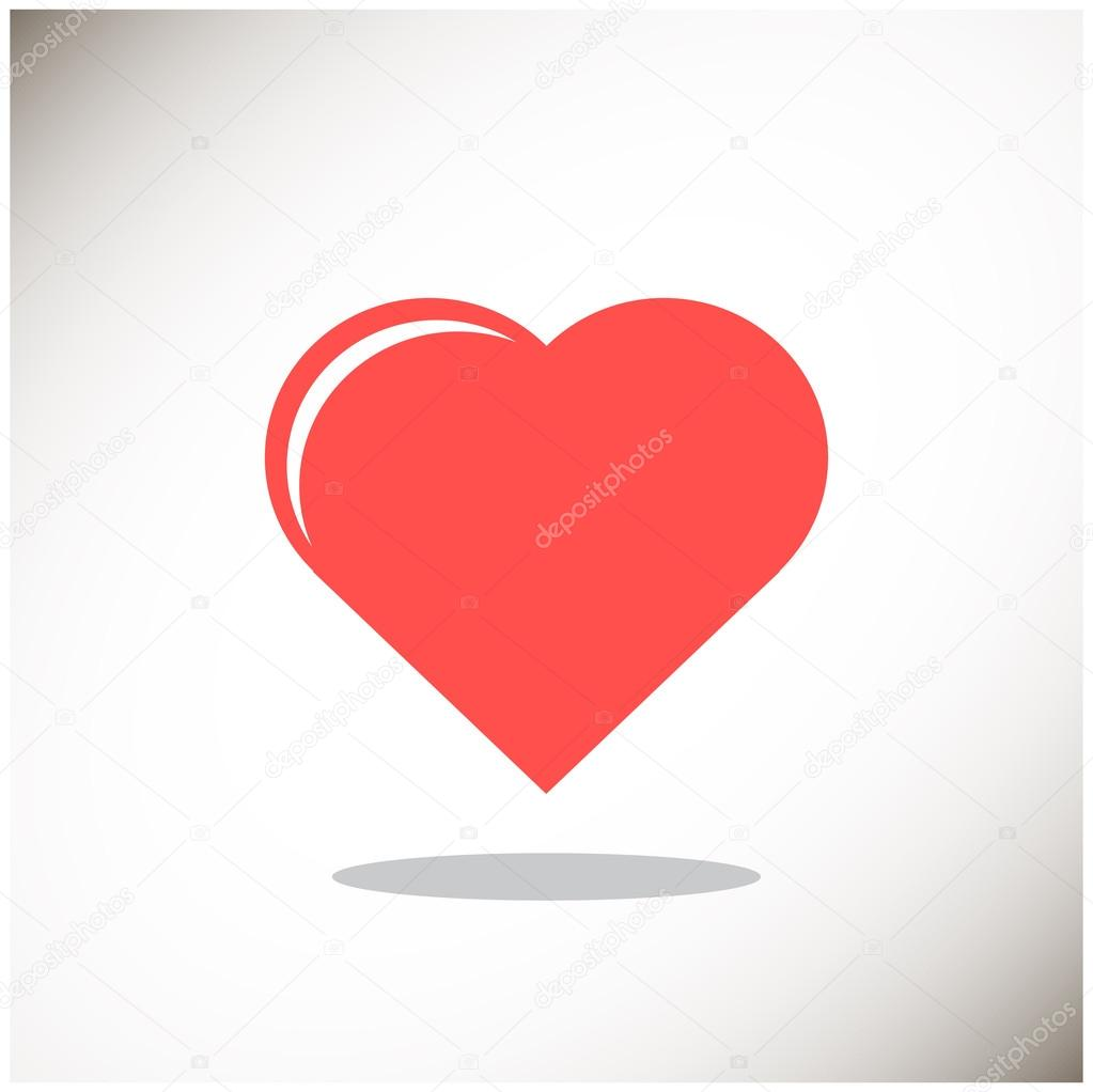 Simple heart web icon