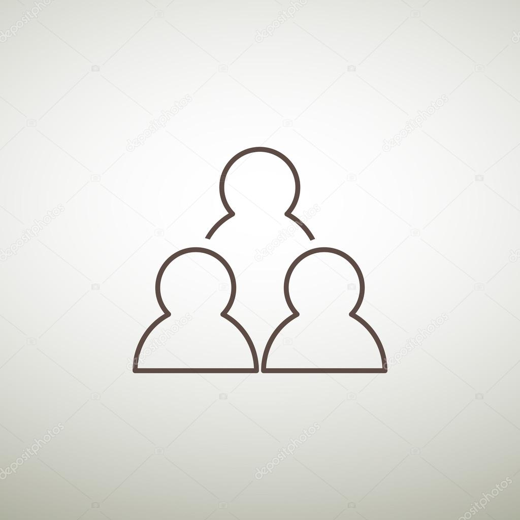 Group of people simple web icon