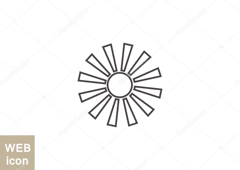 Line Art Of Sun : Sun with rays icon u2014 stock vector © lovart #82568556