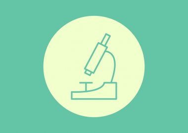 Microscope simple web icon