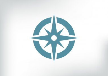 Compass web icon with wind rose