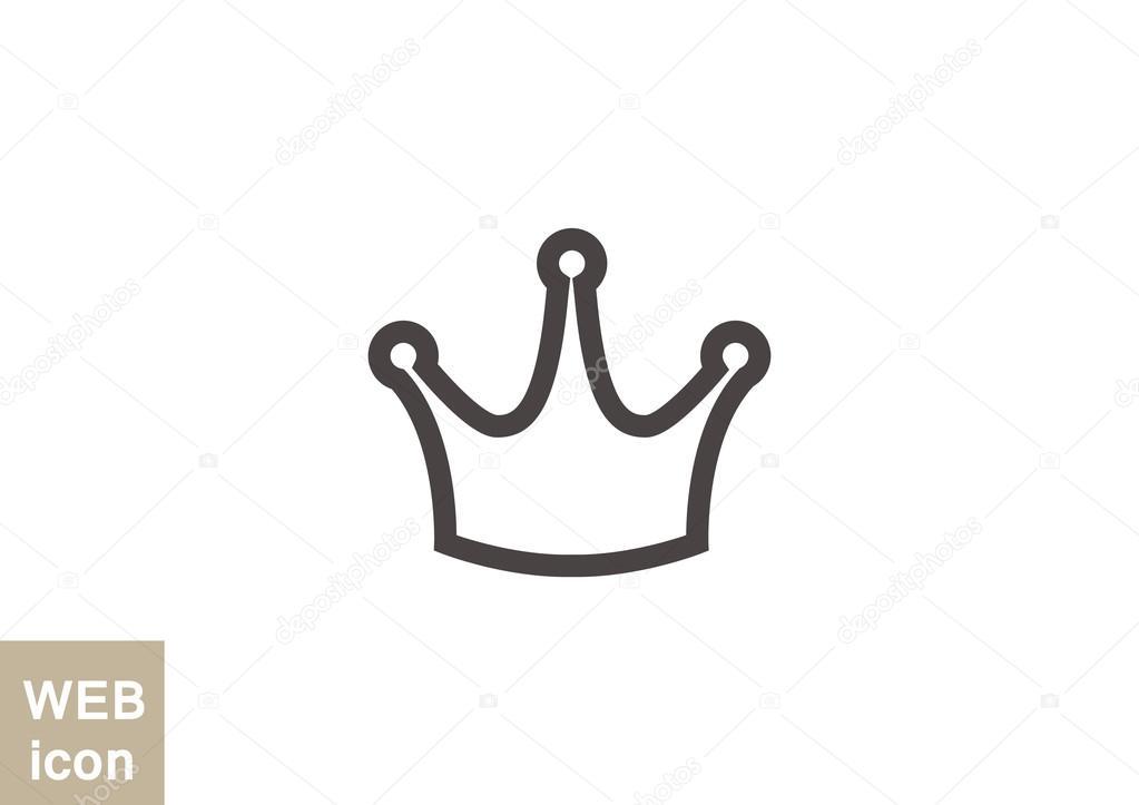 Einfache krone symbol u stockvektor lovart