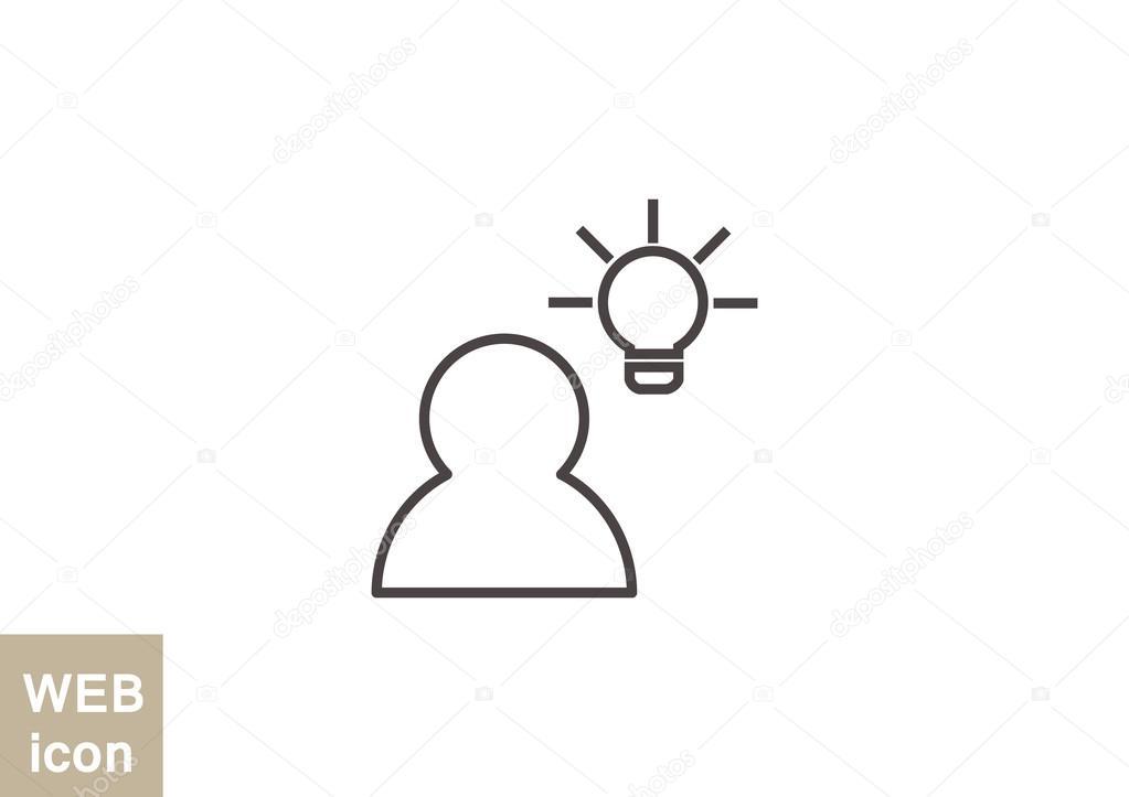 Mensch und Glühbirne einfach Symbol — Stockvektor © LovArt #82575656