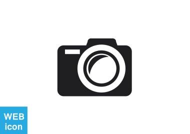 Photo camera web icon. vector design stock vector