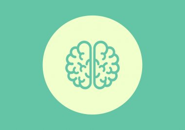 Human brain web icon