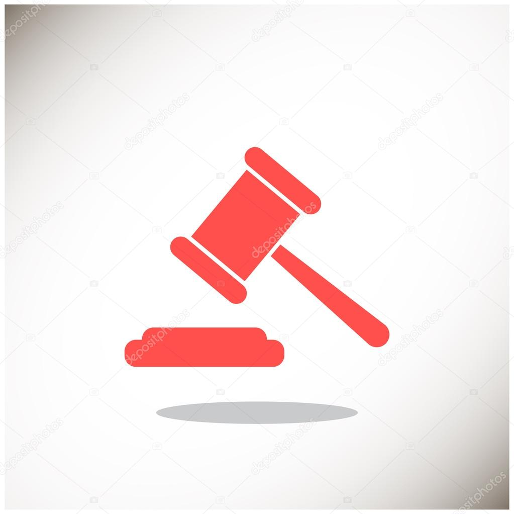 Law hammer icon — Stock Vector © LovArt #82582156