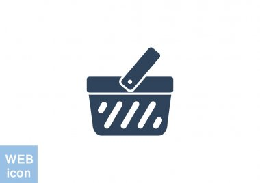 Shopping cart simple web icon