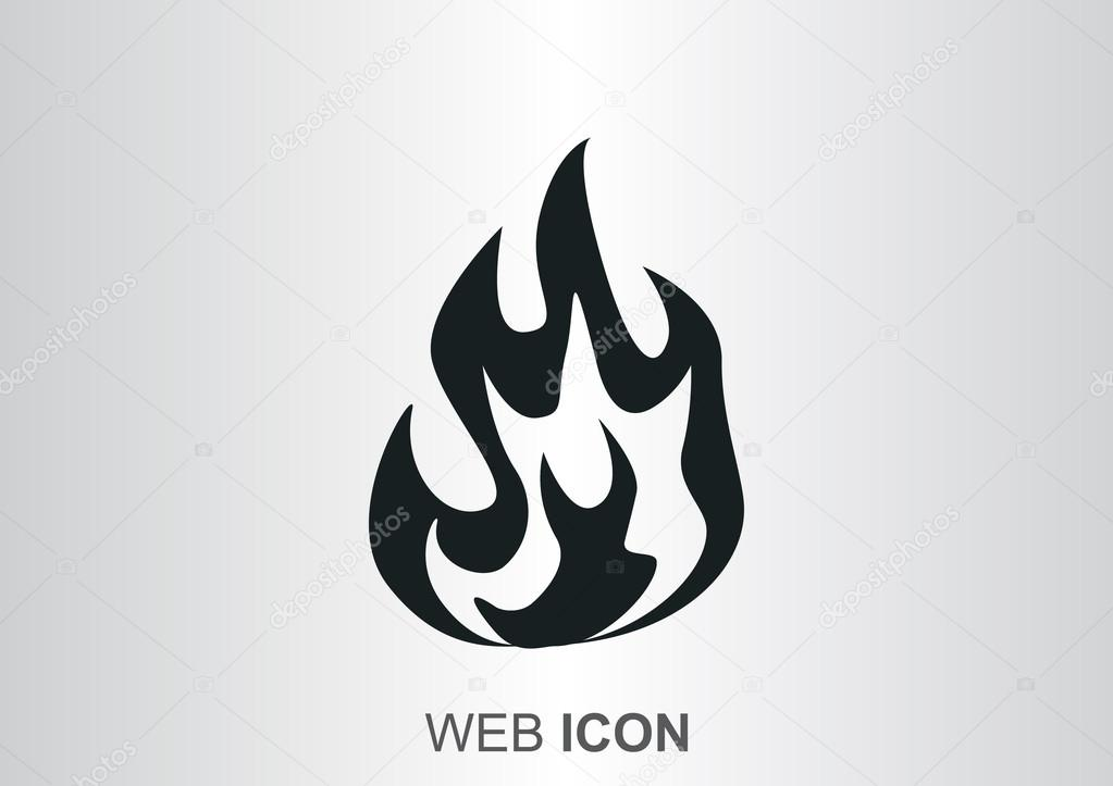 Fire flames web icon