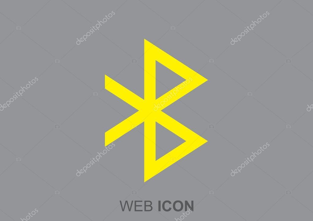 Bluetooth Symbol Web Icon Stock Vector Lovart 86158844