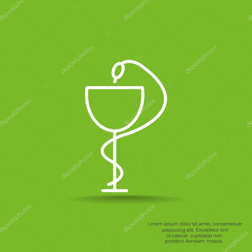 Pharmacy Symbol With Snake And Cup Stock Vector Lovart 88882972