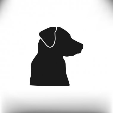 Sign with domestic dog silhouette