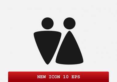 WC icon with gender signs
