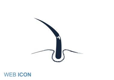 Damaged hair web icon