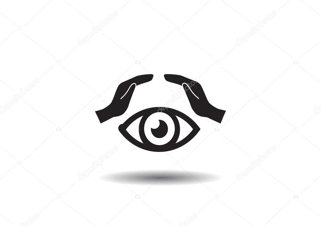 Human Eye And Hands Web Icon Stock Vector Lovart 98050126