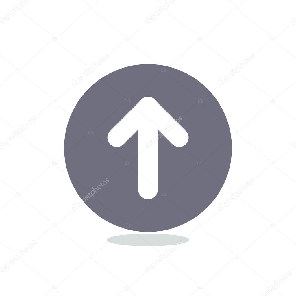 arrow pointing up icon stock vector lovart 99461014
