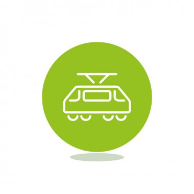 Simple tram web icon