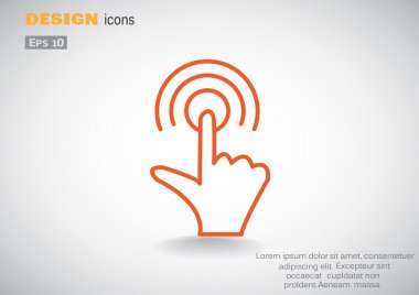Touch screen web icon