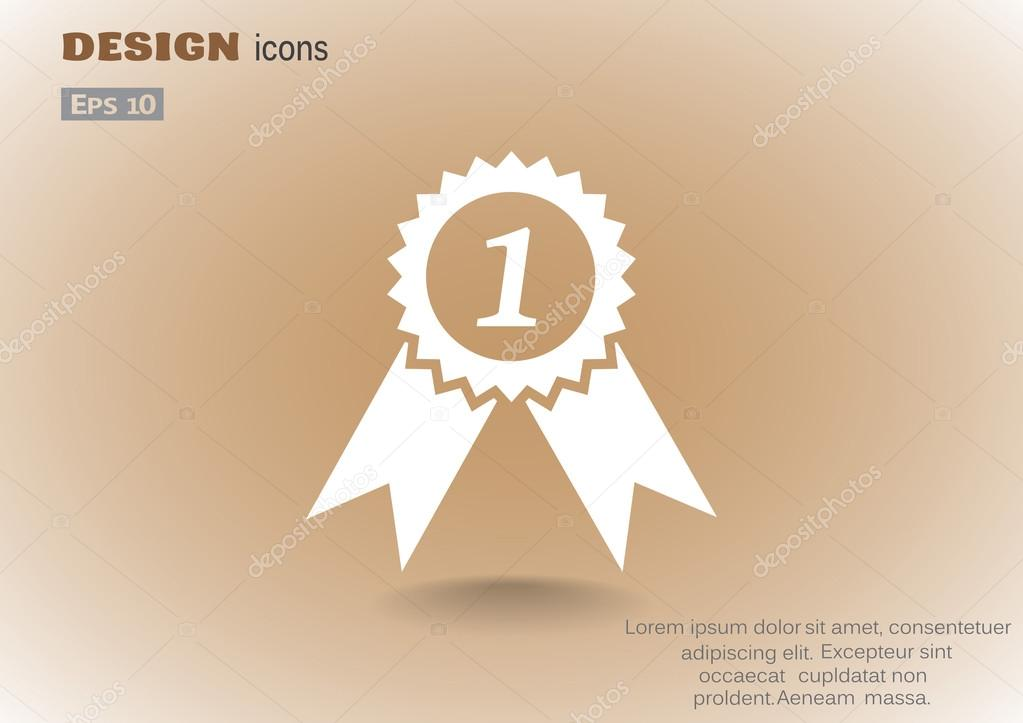 Medal for first place web icon — Stock Vector © LovArt #99474236