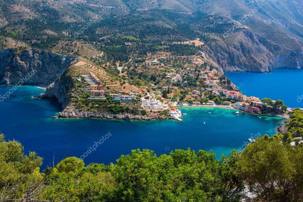 Assos village on Kefalonia, Greece