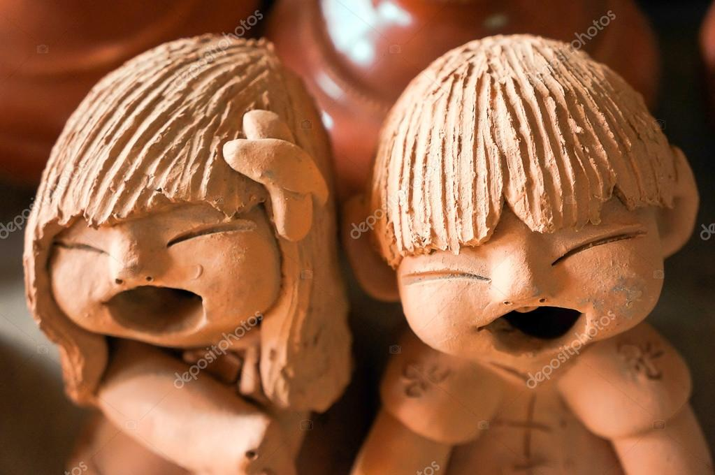 Clay Puppets Children jovial laugh