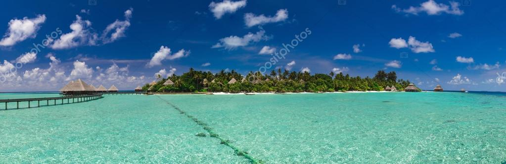 Panoramic view of the Maldivian Island