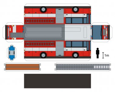 Paper model of a firetruck