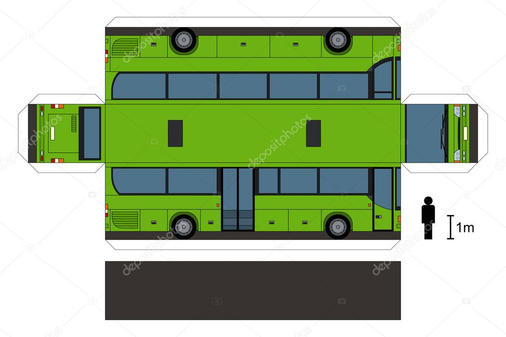 maquette en papier d 39 un bus image vectorielle martin2015 89321574. Black Bedroom Furniture Sets. Home Design Ideas