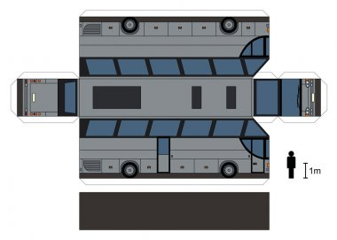 Paper model of a big bus