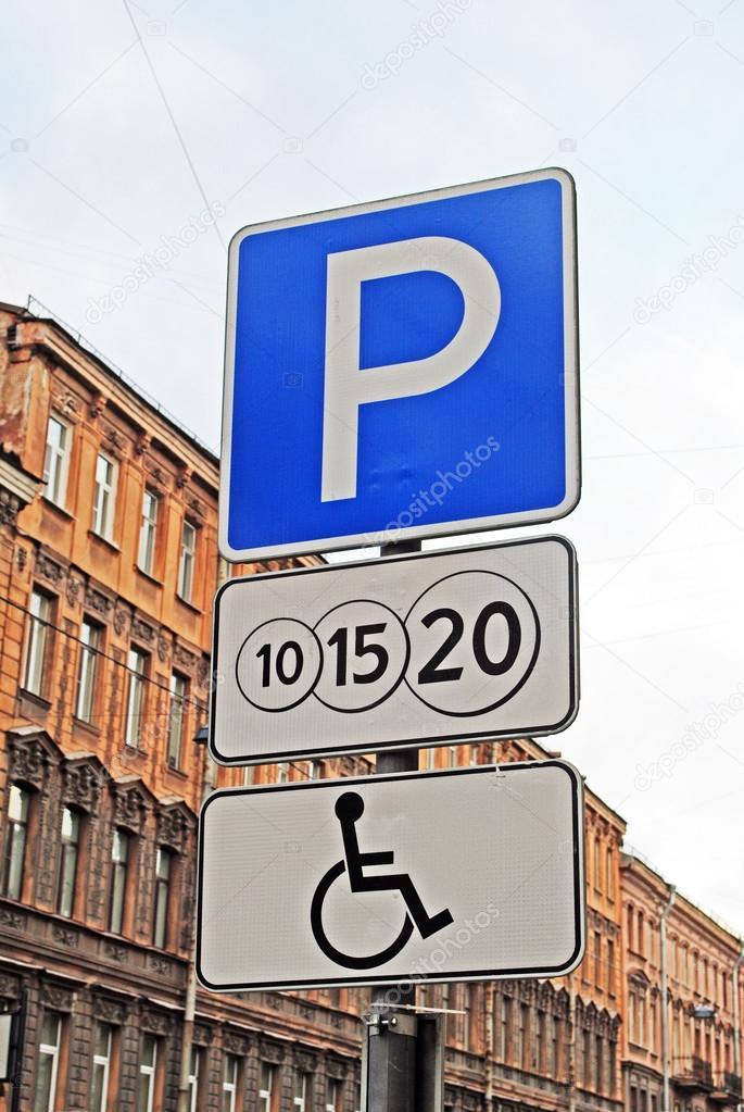 stationnement payant pour panneau de signalisation handicap s photographie irra irra 100348168. Black Bedroom Furniture Sets. Home Design Ideas