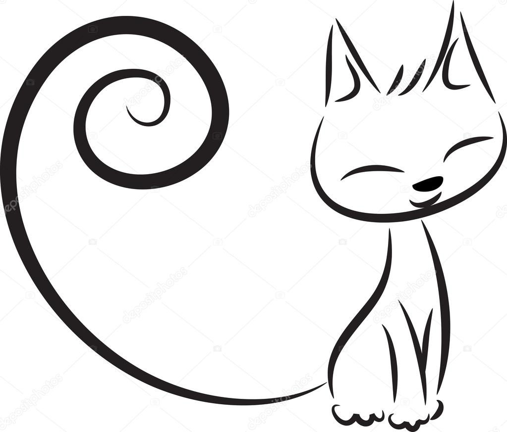 Outline Picture Of Cat