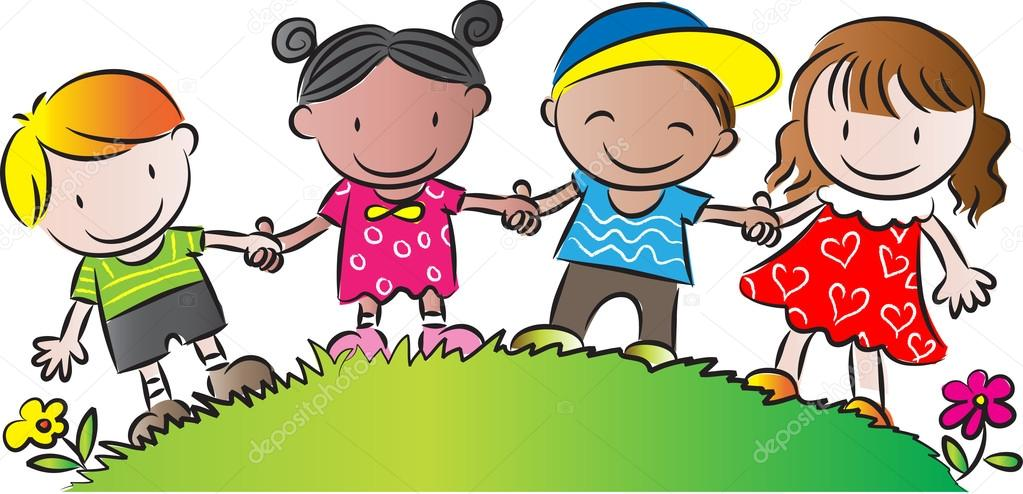 kids standing holding each others hands stock photo kids holding hands clip art images Holding Hands Cartoon