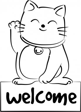 Welcome cat