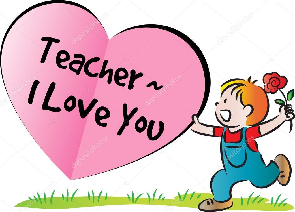 Cartoon drawing happy teachers'day card — Stock Photo ...
