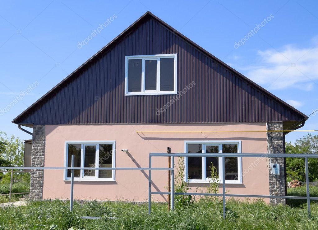 Das Dach Des Wellblech Den Häusern Individuelle Häuser Mit Dach ...