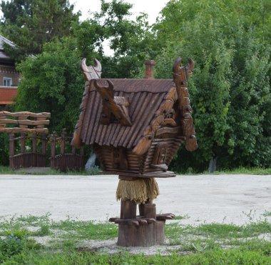 Wooden cottage Baba Yaga
