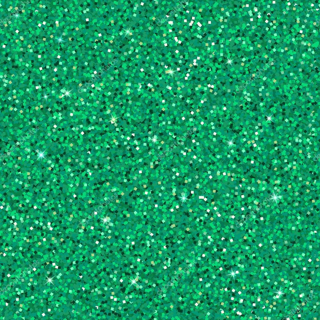 Emerald Glitter Background Stock Vector Delacruzanna