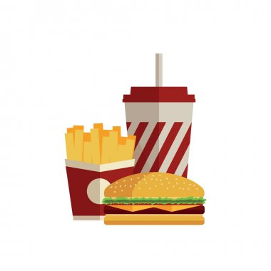 Fast food. Flat design.