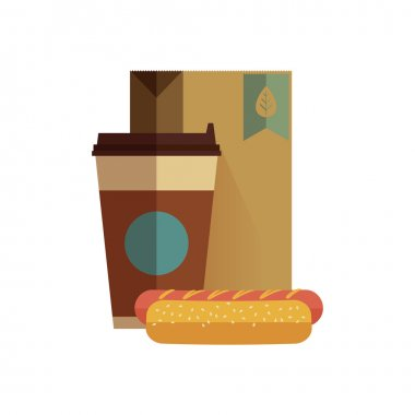 Fast food lunch in flat design