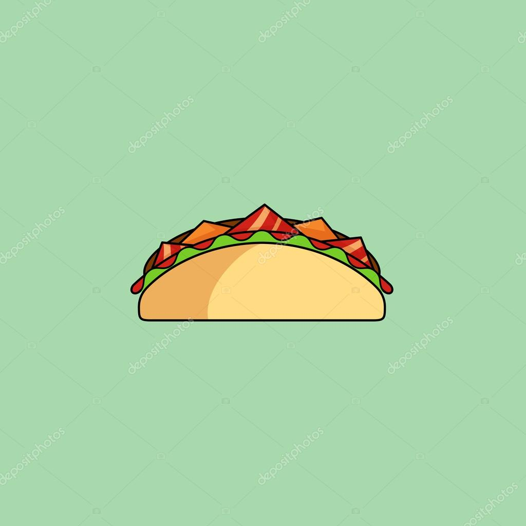 tacos et burrito  ic u00f4ne de ligne shaurma  u2014 image vectorielle de la cruz anna  u00a9  77907812