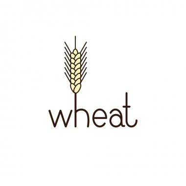 Wheat lettering with ear of wheat