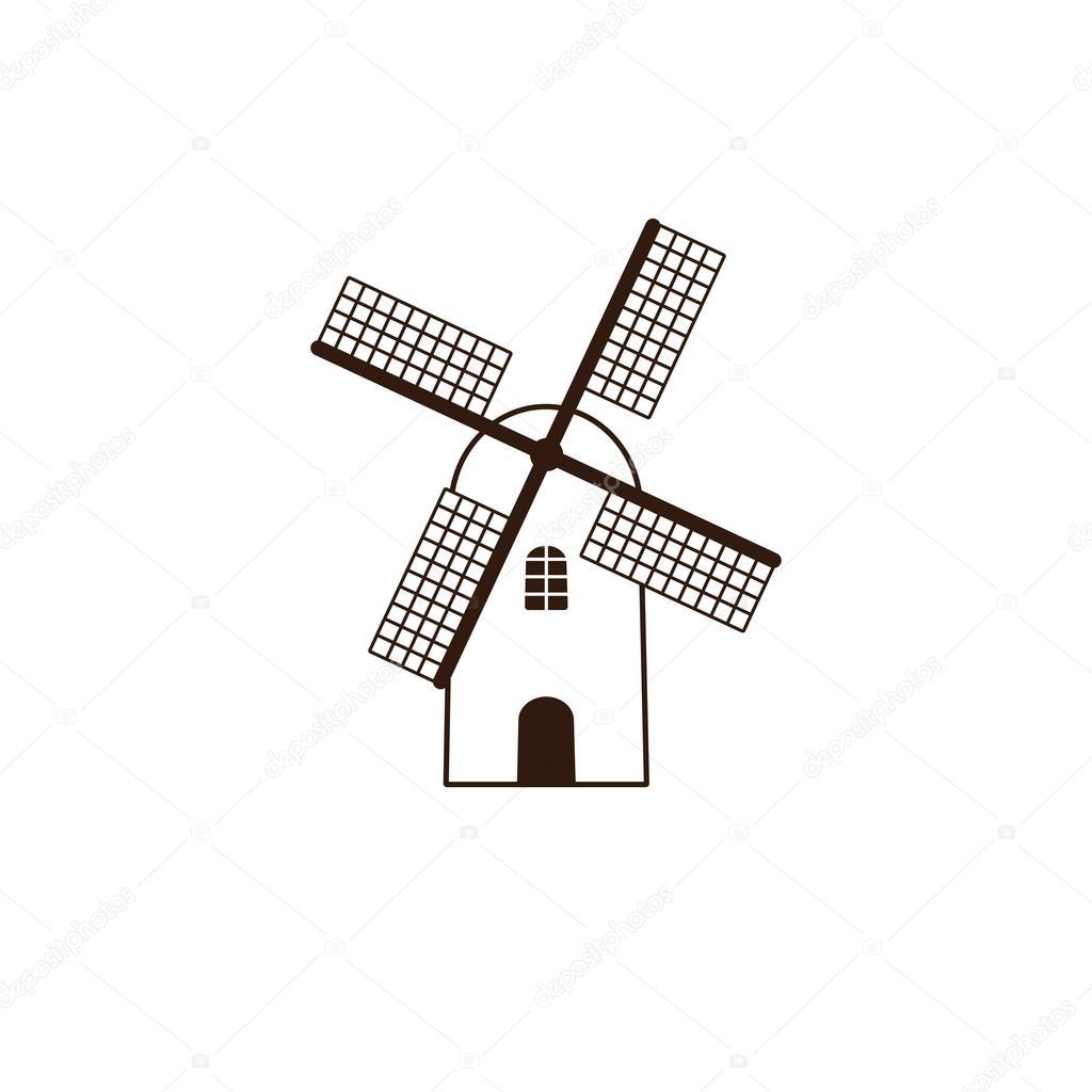 Plantilla de logotipo de molino de viento — Vector de stock ...