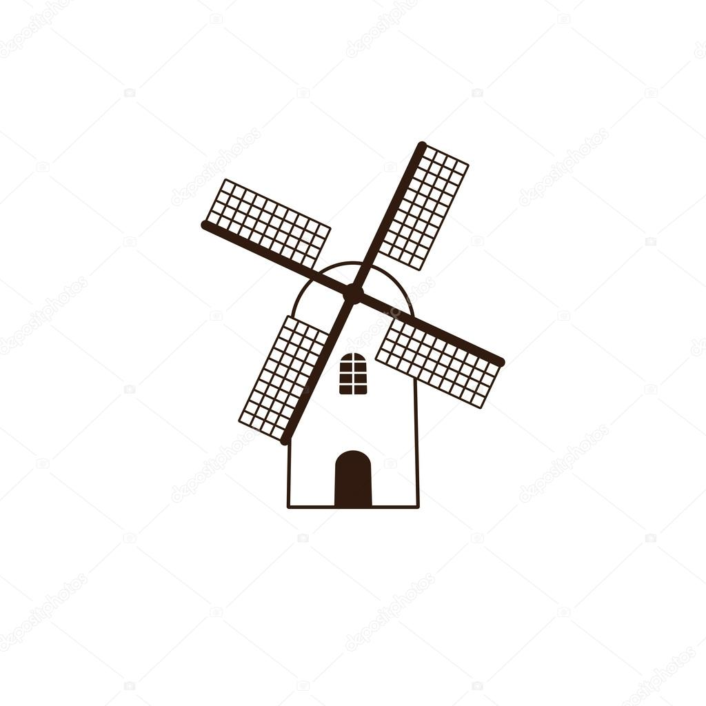 windmill logo template stock vector mborgali 104170386