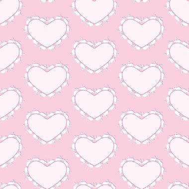 Rabbits heart background