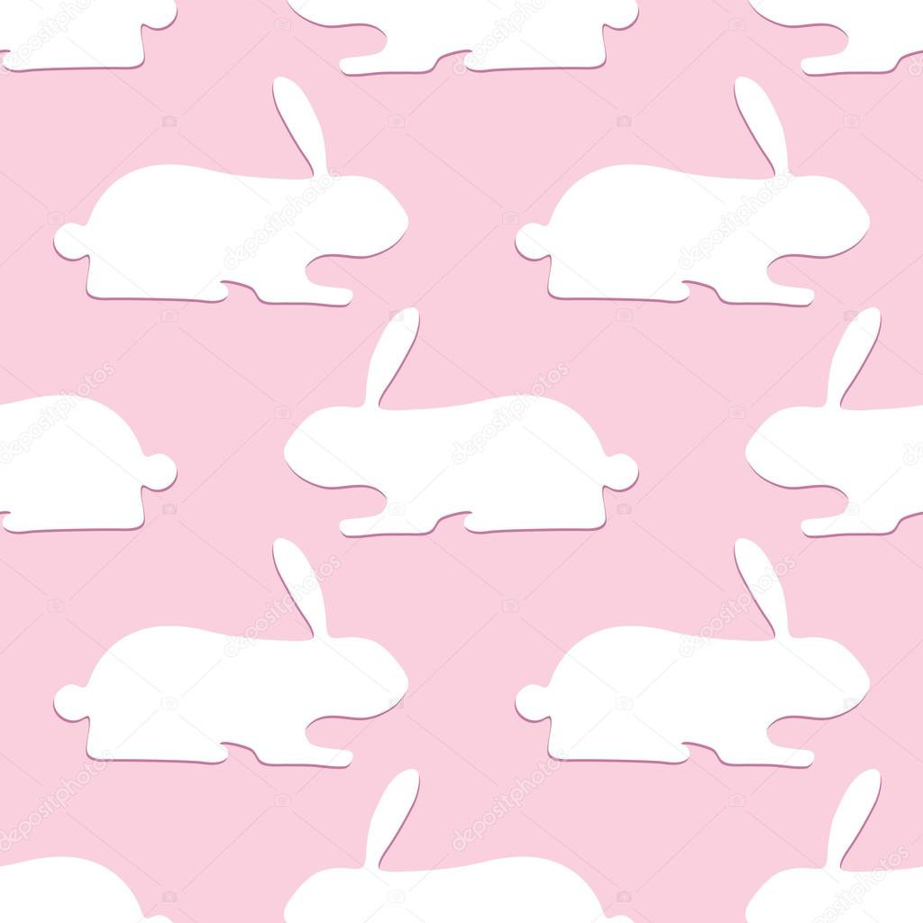 Pattern with opposite rabbits stock vector mborgali 72290395 pattern with opposite rabbits stock vector m4hsunfo