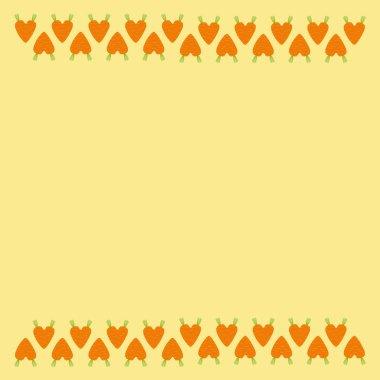 Carrot hearts border