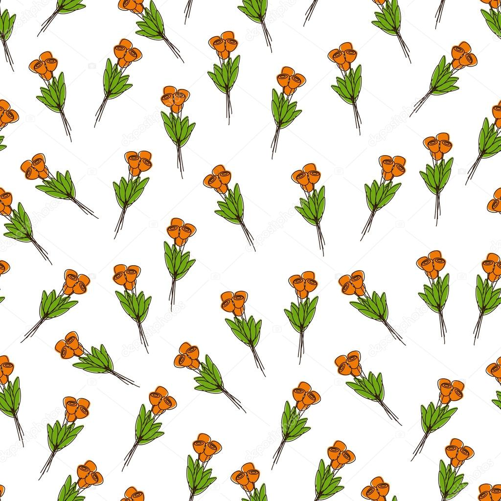 Pattern with bouquets