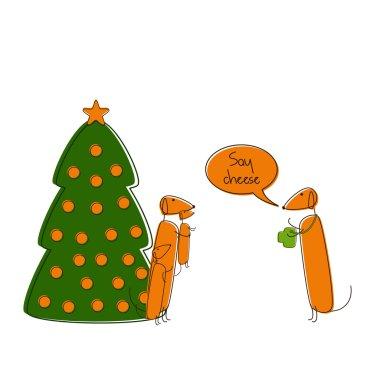 Christmas dachshunds